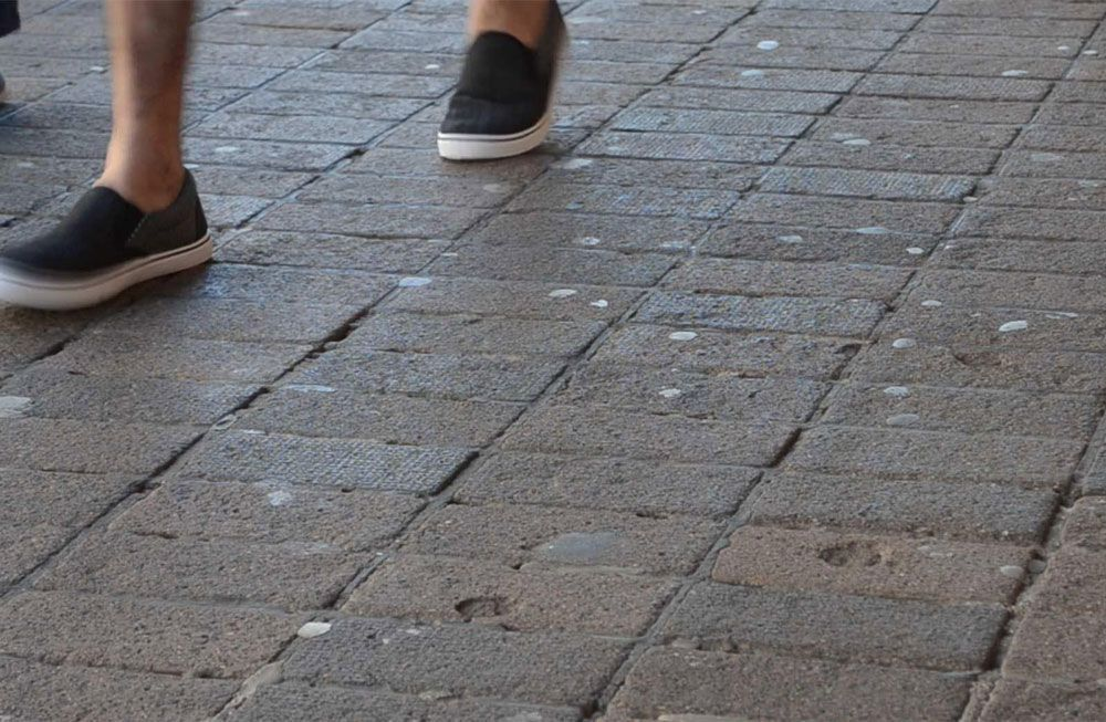 chewing gum on pavement